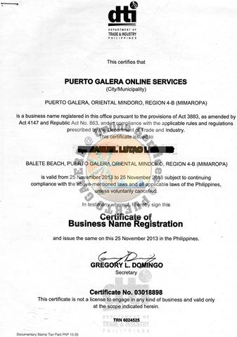 dti jpg | Puerto Galera Online Services